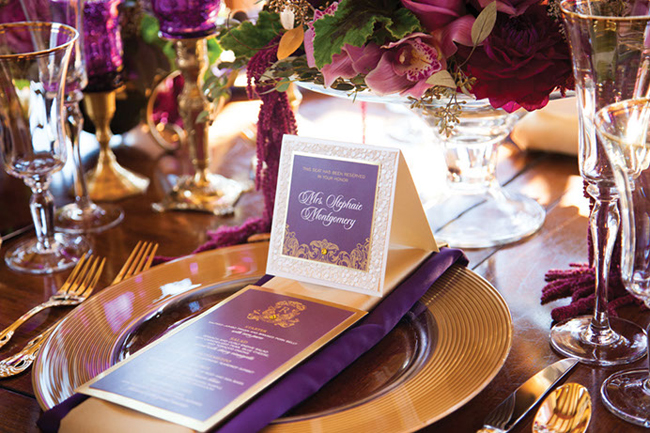 Purple Holiday Table Decor Lisa Sammons Events