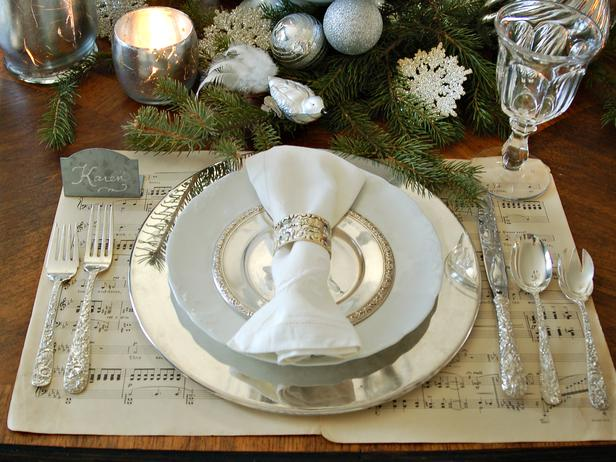 Silver Holiday Table Decor Lisa Sammons Events