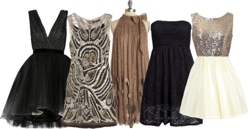 Holiday Party Dress Ideas-Black, Glitter, Gold, Silver