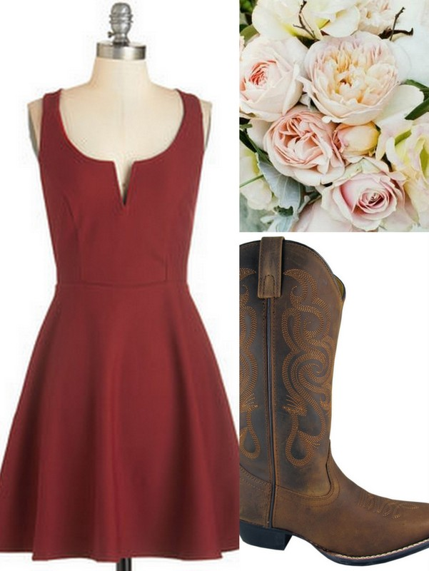 Cranberry: Red: Bridesmaid Dresses: Ideas! Real Wedding Planners from Lisa Sammons Events put together some cute looks for bridesmaids with bouquets & shoes