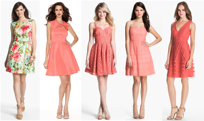 Mixed Bridesmaid Dress Ideas - Coral, Pink, Prints Lisa Sammons Events