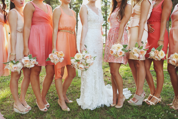 Mixed Bridesmaid Dress Ideas - Strawberry Ice-Tangerine-Lisa Sammons Events
