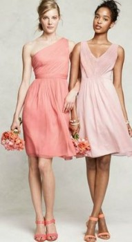 Mixed Bridesmaid Dress Ideas - Strawberry, Pink, Blush, Lisa Sammons Events