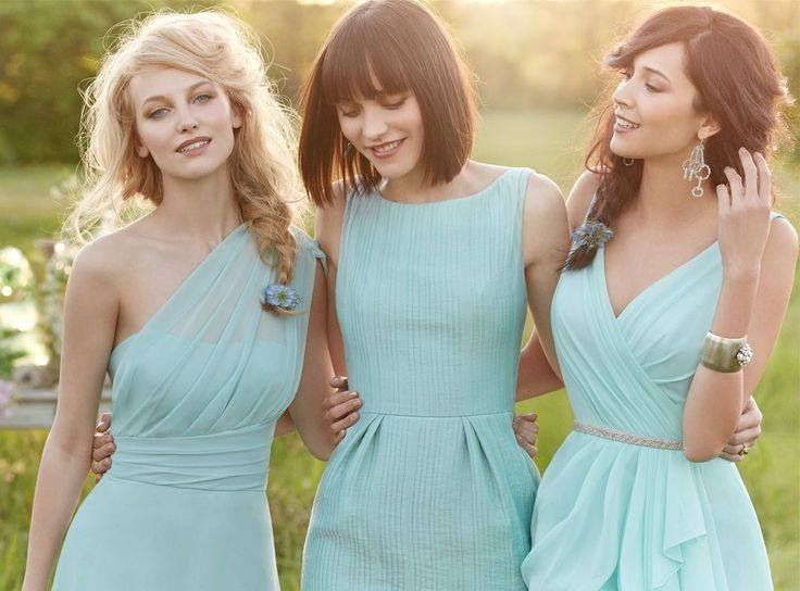 Mixed Bridesmaid Dresses, Aquamarine, Lisa Sammons Events (2)