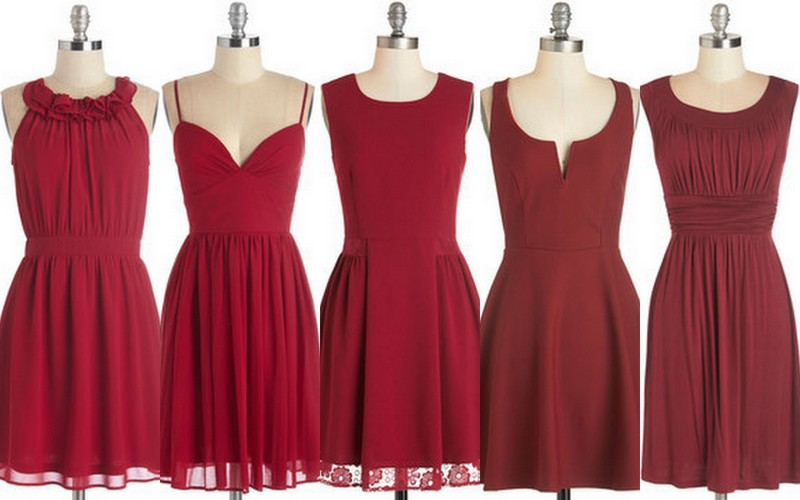 Cranberry Bridesmaid Dresses, Ideas,with bouquets & shoes, Lisa Sammons Events