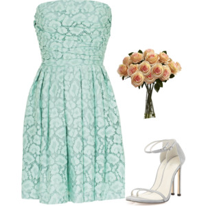 Green and Blue Bridesmaid Dress Ideas