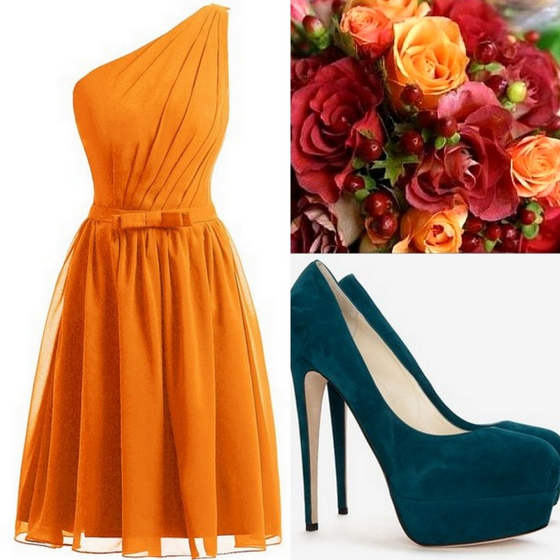 Orange-Tangerine Bridesmaid Dress ideas, Lisa Sammons Events