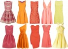 Pink-Orange-and Yellow-Bridesmaid Dresses