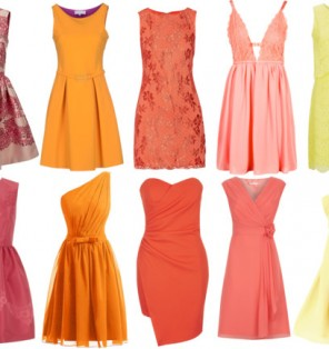 cde92e1a3095 Pink-Orange-and Yellow-Bridesmaid Dresses