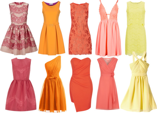 Pink, Orange, & Yellow Bridesmaid dresses for any season
