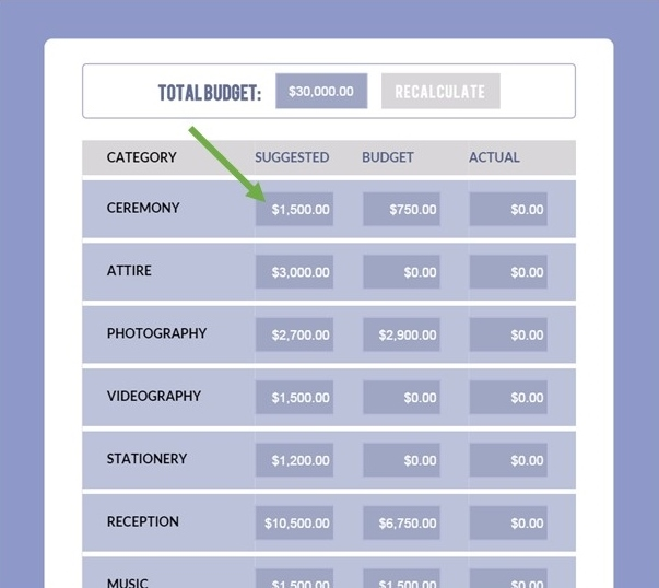 Free Wedding Budget Calculator  Style Inspiration And Design By