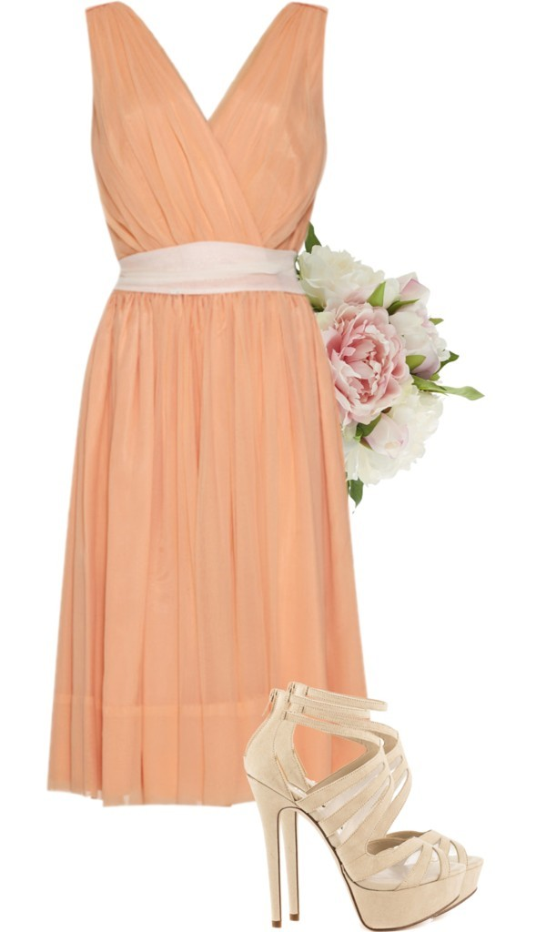 Peach-Coral-Bridesmaid Dress Ideas