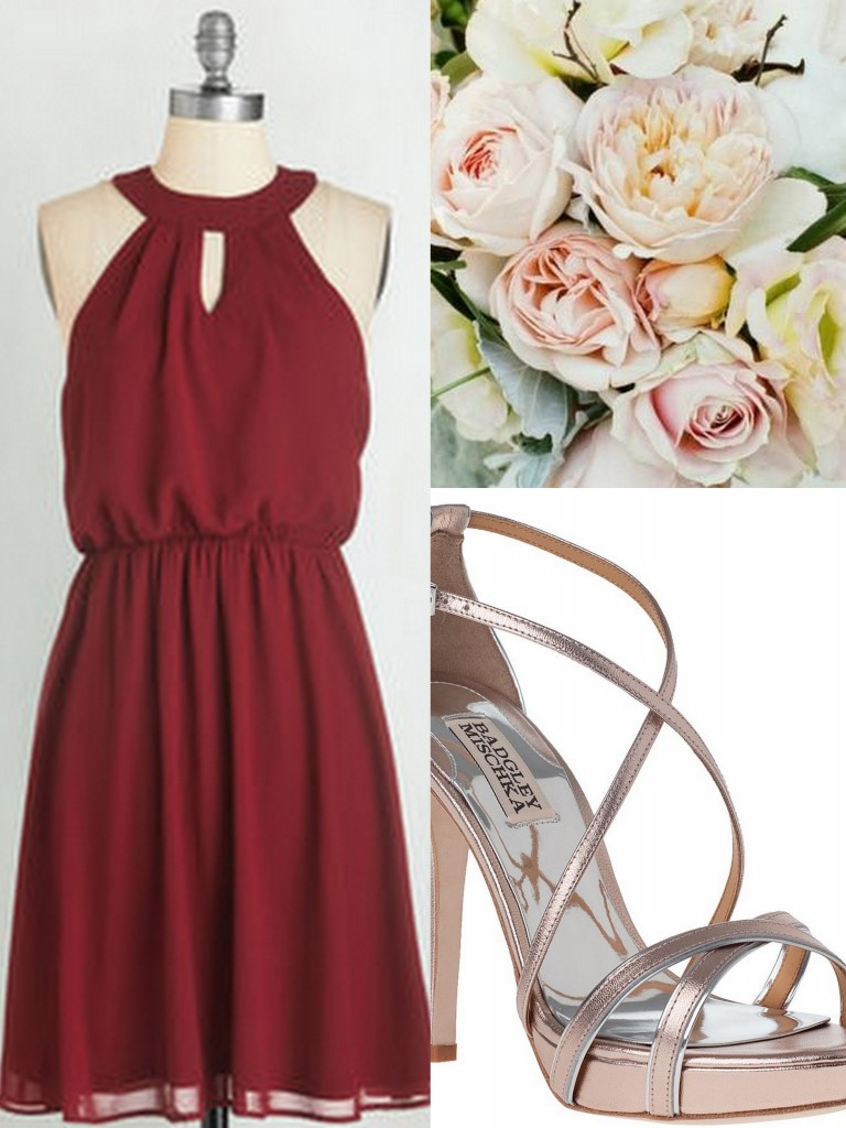 Oxblood-Burgundy-Bridesmaid Dresses