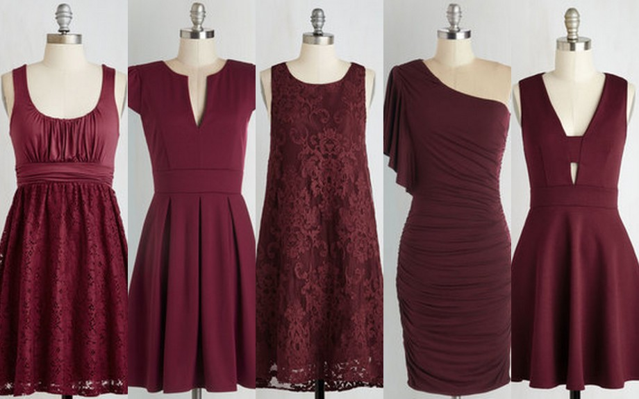 Featured image for 'Oxblood-Burgundy-Bridesmaid Dresses' article