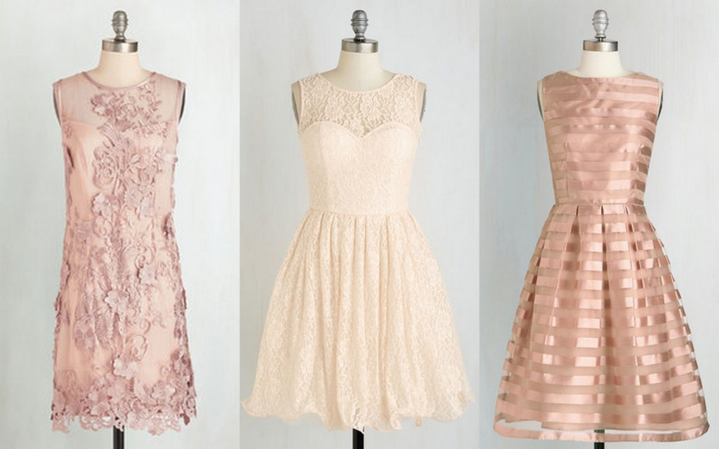 Blush Bridesmaid Dress Ideas. Modcloth, Mixed Bridesmaid Dress ideas